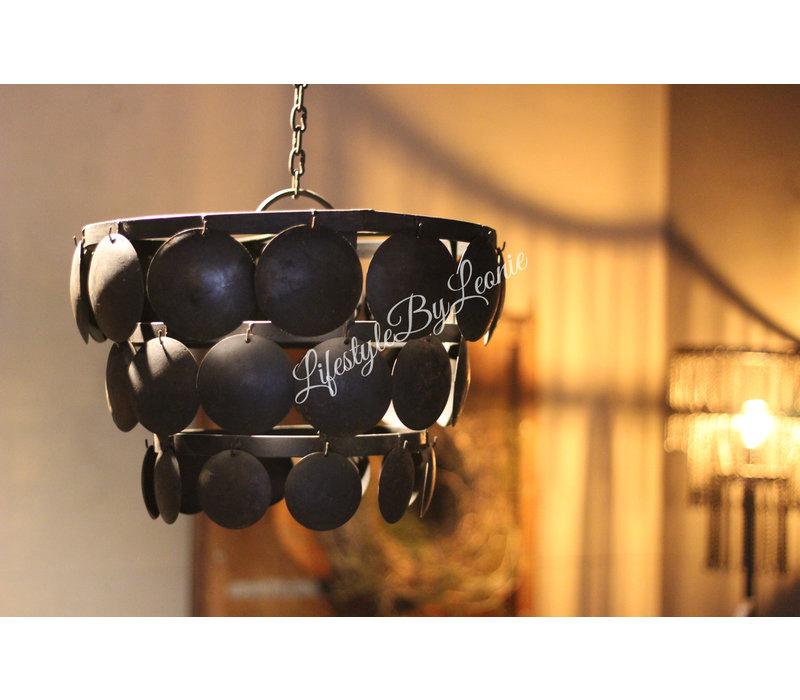 Metalen Old black schijfjeslamp - 40cm