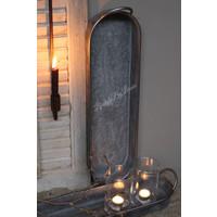 Lange zinken schaal / tray 64 cm