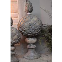 Ornament artisjok op voet Old brown 41 cm