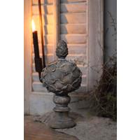 Ornament artisjok op voet Old brown 31 cm