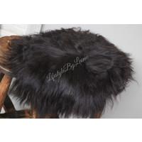 Tibetaans lamsvacht zwart/bruin 35 cm