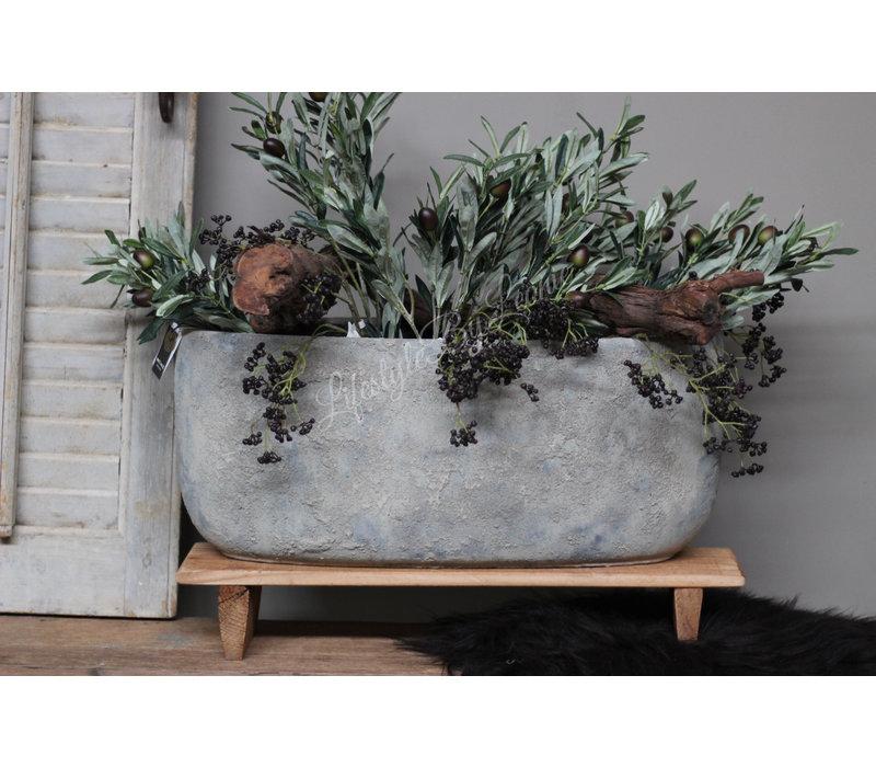 Brynxz grote ovale pot Dusty 56 cm
