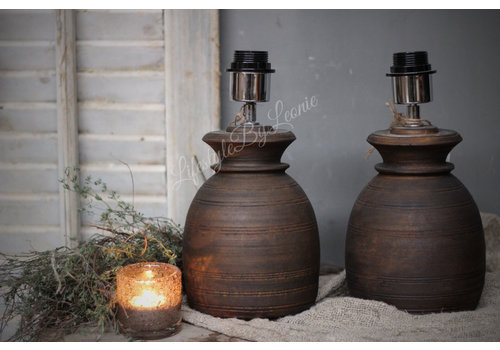LifestyleByLeonie Nepalese stenen kruik lampvoet 20 cm