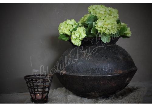 LifestyleByLeonie Zijden Hortensia bosje snowball groen