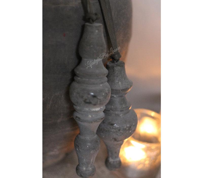 Houten klos Saar cementlook 22 cm
