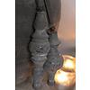 LifestyleByLeonie Houten klos Saar cementlook 17 cm