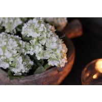 Zijden Hortensia bosje snowball white