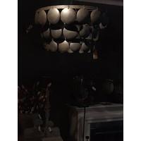 Metalen Old black schijfjeslamp - maat L