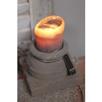 Brynxz stenen poer kandelaar Old brown 14 cm