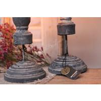 Brynxz set van kandelaren Statue Old grey 28 cm