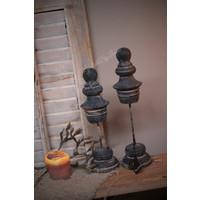 Brynxz set van 2 ornamenten Old grey 31 cm