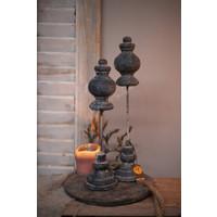 Brynxz set van 2 ornamenten Old grey 35 cm