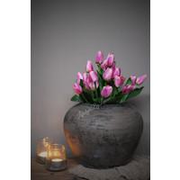 Bosje paarse namaak tulpen met groen 38 cm
