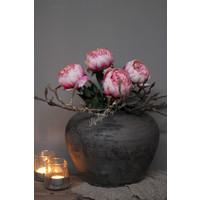 Zijden Pioenroos / knop Light pink
