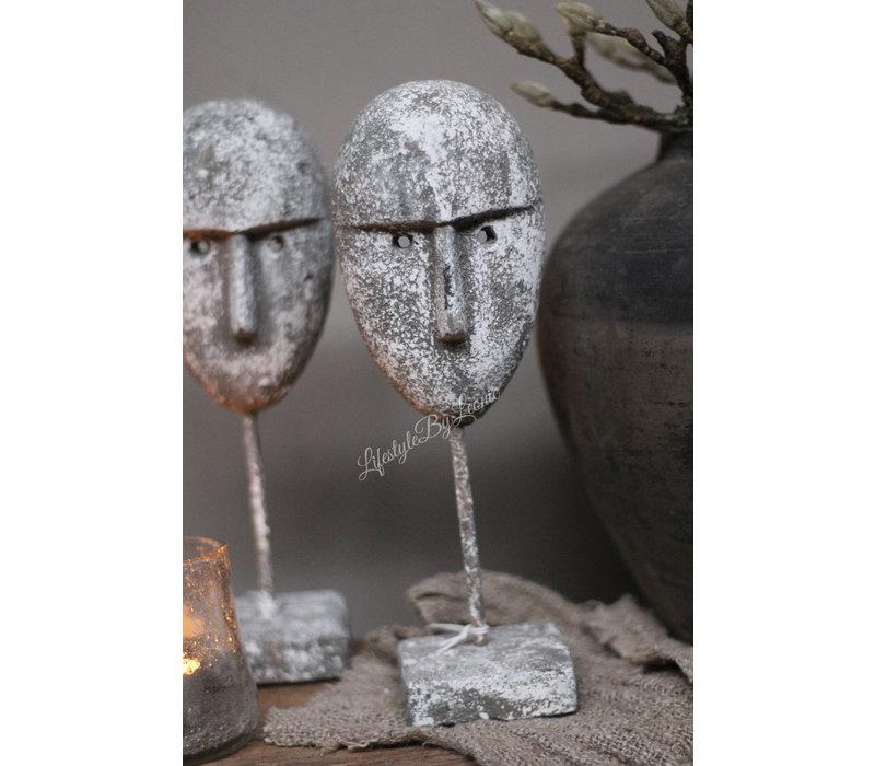 Grijs masker op statief 28 cm