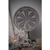 Houten paneel op statief Flower greywash