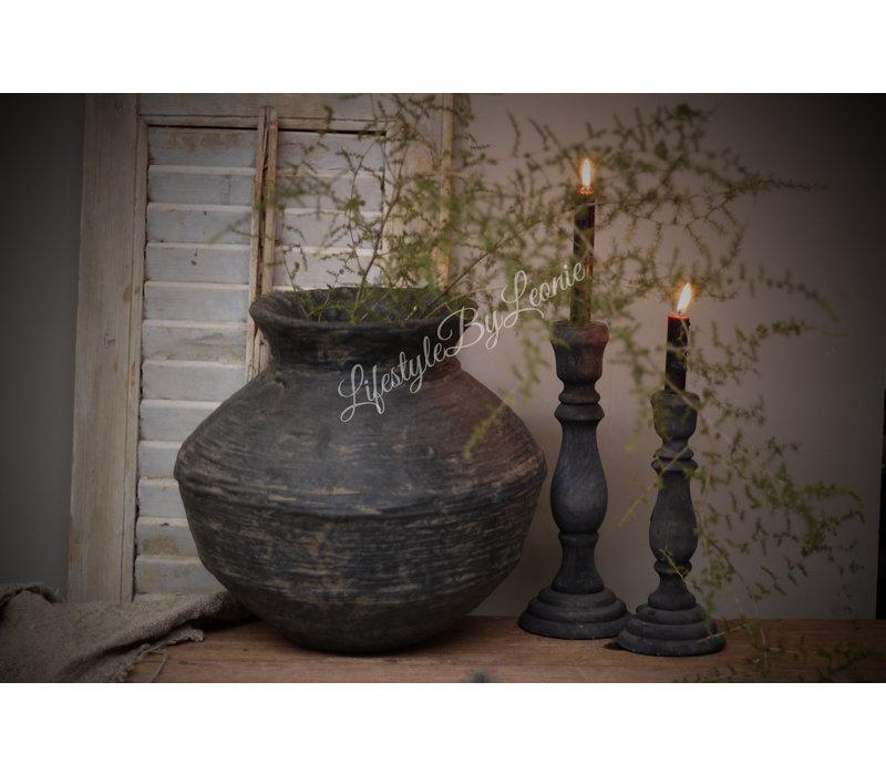 Authentieke rattan clay pot