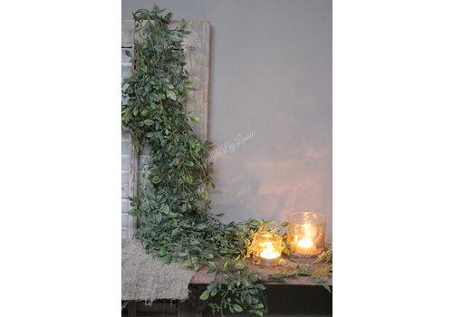 Brynxz Lange groene namaak varen hanger 130 cm
