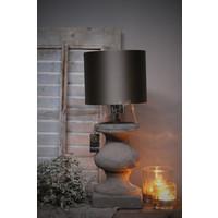 Brynxz stenen baluster lampvoet Old brown 25 cm