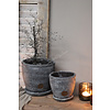 Brynxz Brynxz stenen pot op onderzetter 14 cm