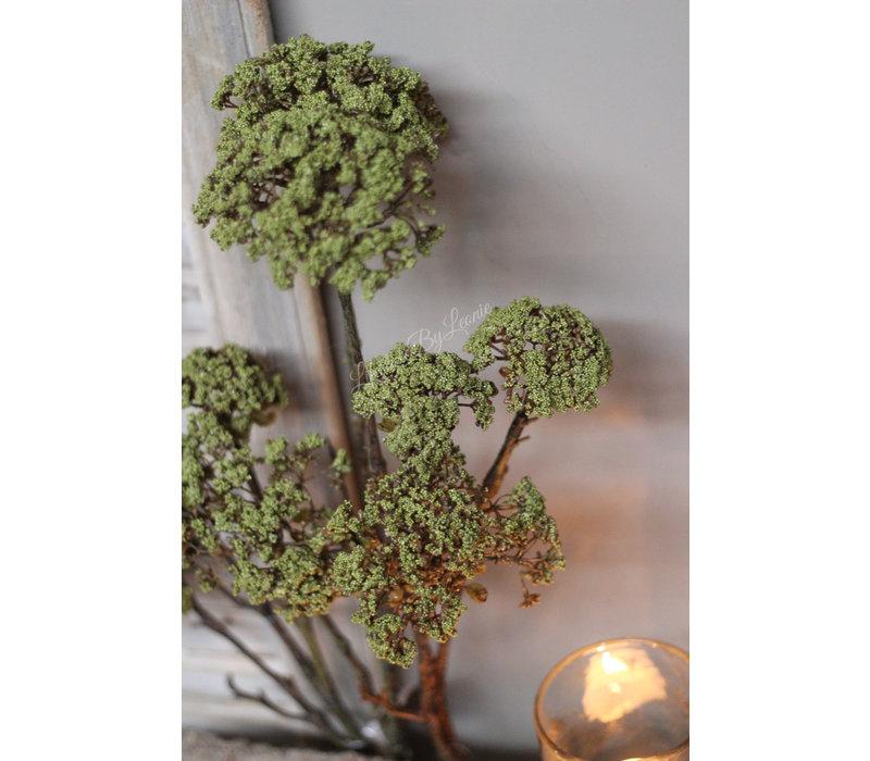 Brynxz zijden dille tak Green 89 cm