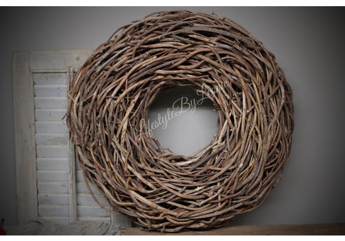 Crazy vine krans Brown 65 cm
