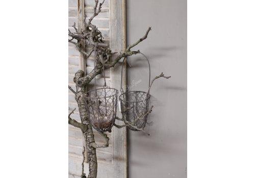 LifestyleByLeonie Taupe draadmand hangend 32 cm