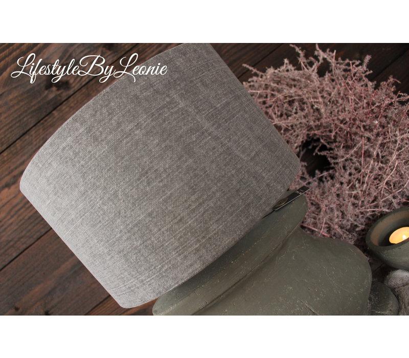 Cilinder lampenkap stonewashed grey 25 cm