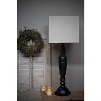 Vierkante lampenkap Dark linnen 25 cm
