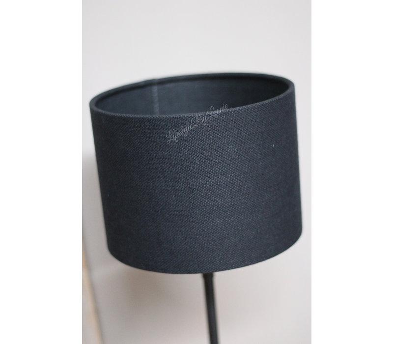 Cilinder lampenkap Livigno black 20 cm
