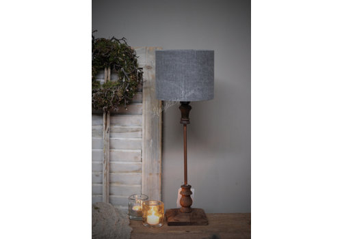 Cilinder lampenkap Stonewashed grey 18 cm