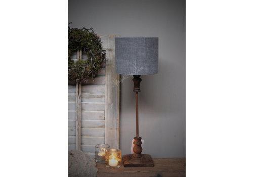 LifestyleByLeonie Cilinder lampenkap stonewashed grey 18 cm