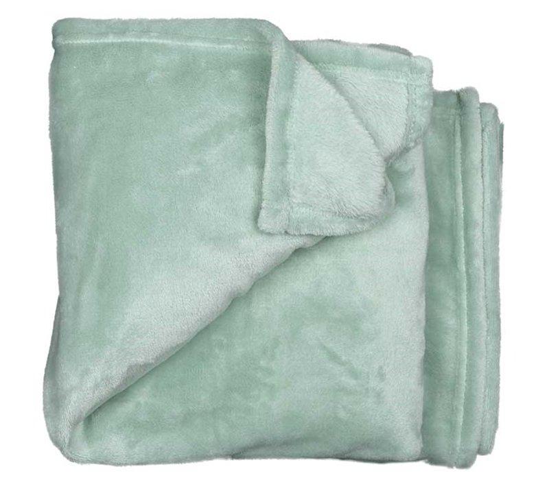 Fleece plaid Pastel mint 200 cm