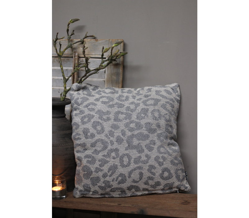 Kussen Leopard grey 45 cm