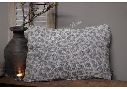 LifestyleByLeonie Kussen Leopard grey 60 cm