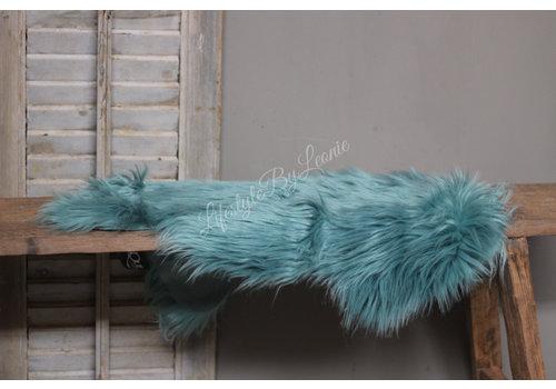 Nep schapenvacht Mineral blue 60 cm