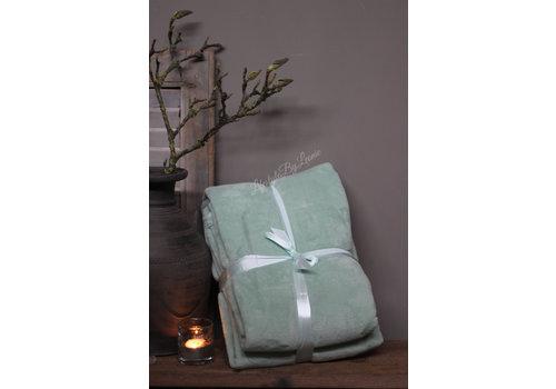 LifestyleByLeonie Fleece plaid Pastel mint 200 cm
