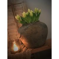 Namaak groene Tulp in knop 38 cm