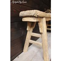 Oud houten Chinees bankje Naturel
