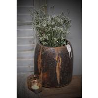 Authentieke houten honingpot