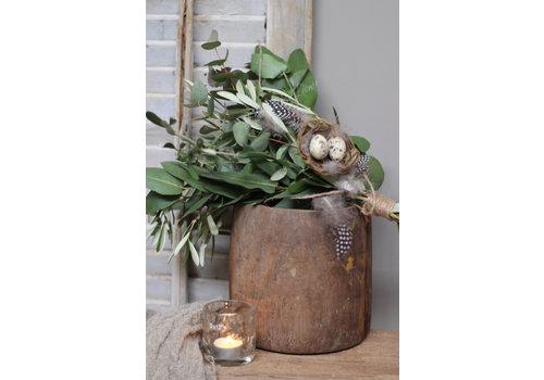 LifestyleByLeonie Authentieke houten honingpot