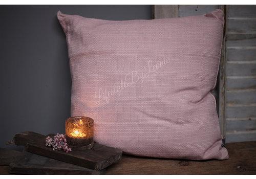 LifestyleByLeonie Kussen Linnen look light pink 45 cm