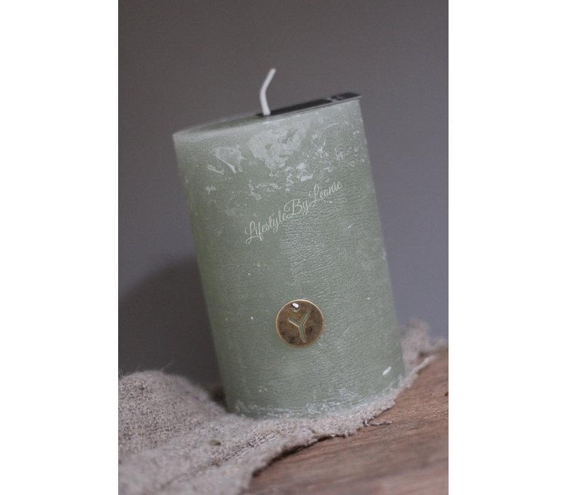 Brynxz stomp kaars Sage green 15cm