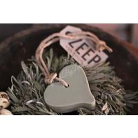 Mijn Stijl zeephanger hart groen grijs