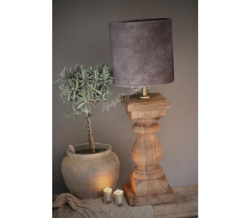 Baluster lampvoet Naturel 45 cm