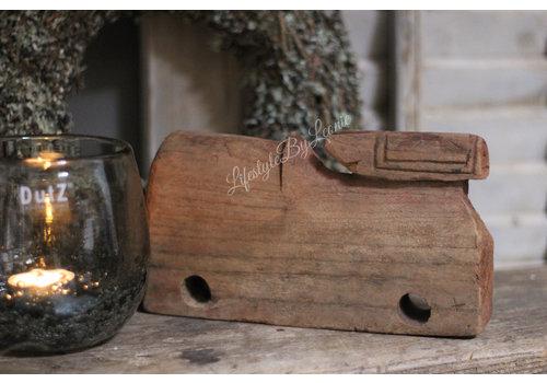 Authentiek houten ornament liggend