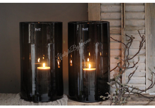 Dutz DUTZ cilinder windlicht black 40cm