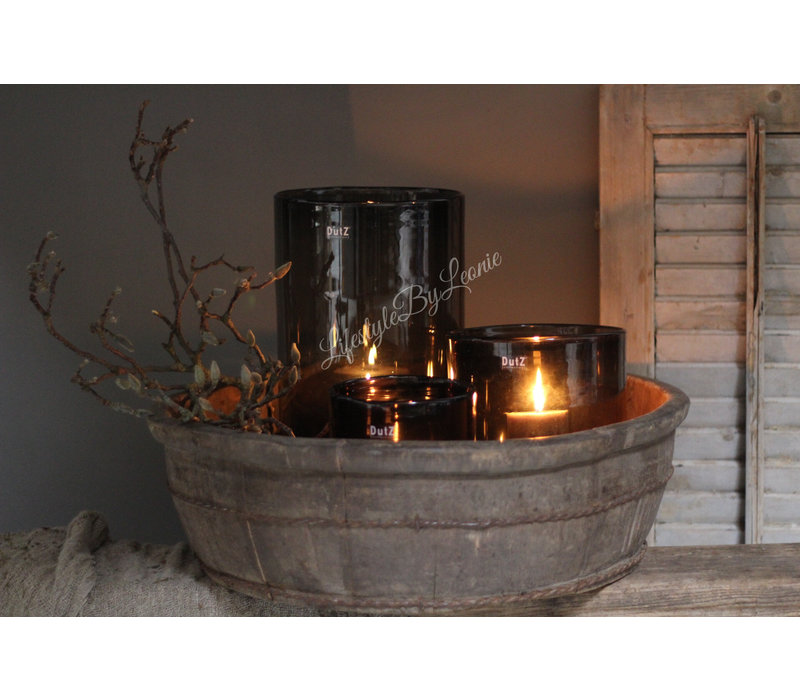 DUTZ cilinder windlicht black 40 cm
