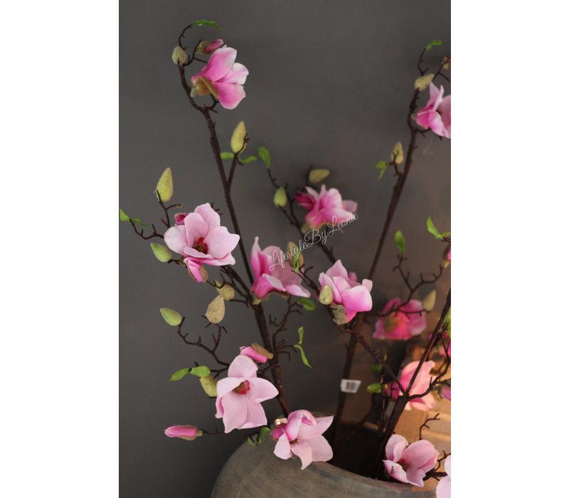 Zijden Magnoliatak Pink flower 115 cm