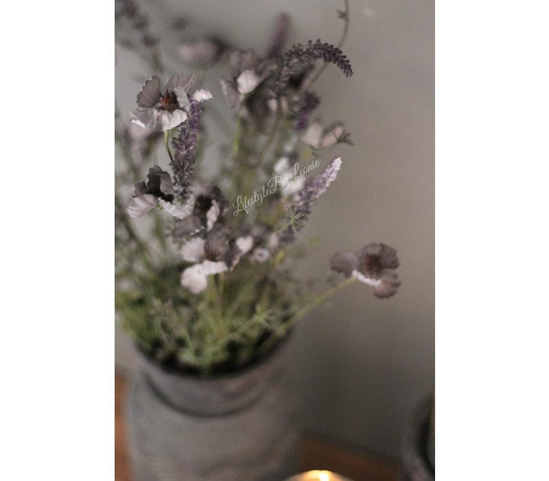 Kunsttak Field flower soft grey